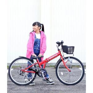 4日間限定1000円クーポン 子供自転車 22インチ 24インチ 26インチ 6段ギア ライト 鍵 前カゴ CIデッキ付 CTB 折りたたみ自転車 折畳 自転車 マウンテン 送料無料 smart-factory 20