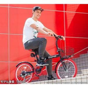 折りたたみ自転車 20インチ シマノ製6段ギア 15色 折り畳み自転車 折畳自転車 カゴ付き 小径車 ミニベロ 自転車 通販 おしゃれ 送料無料|smart-factory|16
