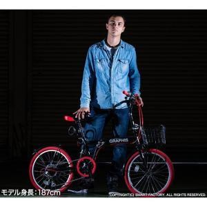 折りたたみ自転車 20インチ シマノ製6段ギア 15色 折り畳み自転車 折畳自転車 カゴ付き 小径車 ミニベロ 自転車 通販 おしゃれ 送料無料|smart-factory|17