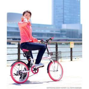 折りたたみ自転車 20インチ シマノ製6段ギア 15色 折り畳み自転車 折畳自転車 カゴ付き 小径車 ミニベロ 自転車 通販 おしゃれ 送料無料|smart-factory|07
