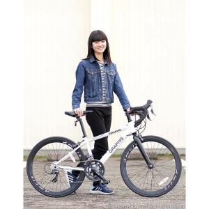 ジュニアロードバイク 週末価格 24インチ 2x8段変速 シマノ クラリス アルミフレーム 子供用 女性向け GRAPHIS|smart-factory|18