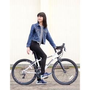 ジュニアロードバイク 週末価格 24インチ 2x8段変速 シマノ クラリス アルミフレーム 子供用 女性向け GRAPHIS|smart-factory|19