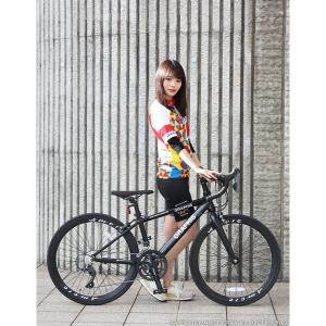ジュニアロードバイク 週末価格 24インチ 2x8段変速 シマノ クラリス アルミフレーム 子供用 女性向け GRAPHIS|smart-factory|08