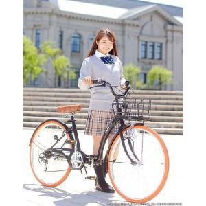 折り畳み自転車 3000円クーポン 26インチ カゴ付 ライト 鍵 シマノ製6段ギア 全5色 シティサイクル ママチャリ|smart-factory|08