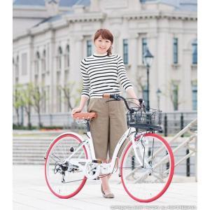 折り畳み自転車 3000円クーポン 26インチ カゴ付 ライト 鍵 シマノ製6段ギア 全5色 シティサイクル ママチャリ|smart-factory|04