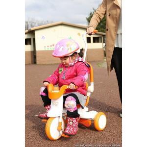 三輪車 平日限定1500円クーポン 幼児用自転車 1歳 2歳 3歳 子供 3色 折りたたみ三輪車 かじとり 押棒 GRAPHIS GR-TRY|smart-factory|12