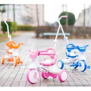 三輪車 平日限定1500円クーポン 幼児用自転車 1歳 2歳 3歳 子供 3色 折りたたみ三輪車 かじとり 押棒 GRAPHIS GR-TRY|smart-factory|21