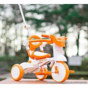 三輪車 平日限定1500円クーポン 幼児用自転車 1歳 2歳 3歳 子供 3色 折りたたみ三輪車 かじとり 押棒 GRAPHIS GR-TRY|smart-factory|07