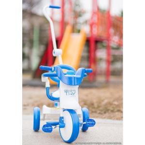 三輪車 平日限定1500円クーポン 幼児用自転車 1歳 2歳 3歳 子供 3色 折りたたみ三輪車 かじとり 押棒 GRAPHIS GR-TRY|smart-factory|09