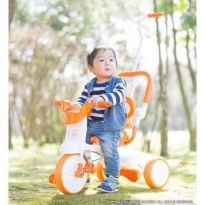 三輪車 平日限定1500円クーポン 幼児用自転車 1歳 2歳 3歳 子供 3色 折りたたみ三輪車 かじとり 押棒 GRAPHIS GR-TRY|smart-factory|10