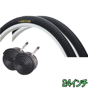 自転車 タイヤ 24インチ 2本セット ペア巻き CITY COMFORT 耐摩耗 86型 IRC 井上|smart-factory