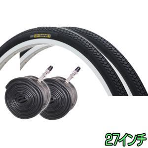 自転車 タイヤ 27インチ 2本セット ペア巻き CITY COMFORT 耐摩耗 86型 IRC 井上|smart-factory