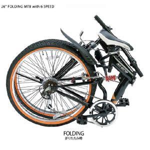 マウンテンバイク・MTB 折りたたみ自転車  26インチ シマノ製6段ギア 前後Wサス 【送料無料】 smart-factory 05