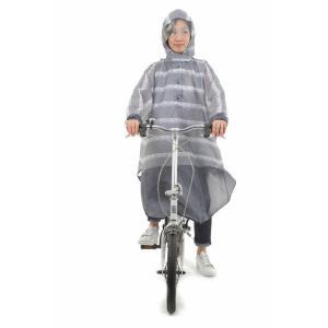 送料無料 レインコート 自転車 レインポンチョ OP-PB レース ローズ ピンストライプ レディースファッション レインウエア レインコート おしゃれ 通学 通勤 smart-factory 11