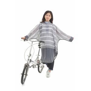送料無料 レインコート 自転車 レインポンチョ OP-PB レース ローズ ピンストライプ レディースファッション レインウエア レインコート おしゃれ 通学 通勤 smart-factory 09