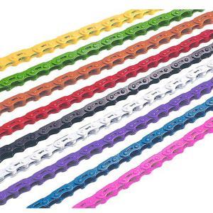 2個まで日本郵便送料無料 自転車 チェーン YBN MK747 シングル用 カラーチェーン 6色 BMX、ピストなどにおすすめのシングルスピード用カラーチェーン 即日発送|smart-factory