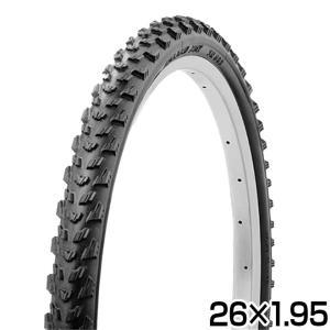 自転車 タイヤ 26インチ ブロックタイヤ 1本 26x1.95 HE ブラック SR089 SHINKO シンコー|自転車通販 スマートファクトリー