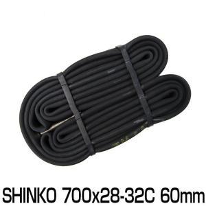 自転車 チューブ 700C 700 28C 32C 60mm ロングバルブ 仏式 FV shinko...