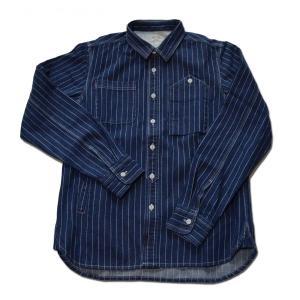 スマートスパイス メンズ 送料無料 即納 ウォバッシュシャツジャケット インディゴ