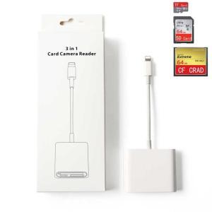 iPhone iPad SD CF microSD Lightning カードリーダー アプリ不要 iPhone XS iPhone 11 iOS12.4 iOS13 サポート 日本語説明書あり 得トクセール