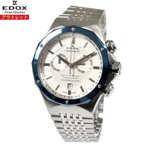 アウトレット エドックス 腕時計 10108-3BU-AIN デルフィン クロノグラフ クオーツ メ...