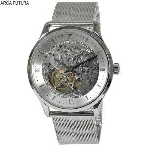 5887d207fe アルカフトゥーラ 腕時計 101101WHSS-M メカニカルスケルトン 自動巻き ブラックインデックス 送料無料
