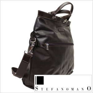 トートバッグ STEFANO MANO ステファノマーノ メンズ 紳士用 ビジネスバッグ 鞄 カバン かばん 2WAY ショルダー ブリーフケース ダークブラウン|smartbiz