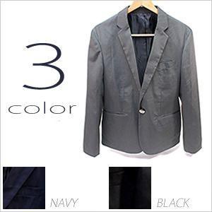 テーラードジャケット ノッチドラペル メンズ ジャケット 紳士用 ブラック 黒 チャコール ネイビー|smartbiz