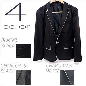 テーラードジャケット メンズ ノッチドラペル ジャケット 紳士用 ブラック 黒 チャコール|smartbiz