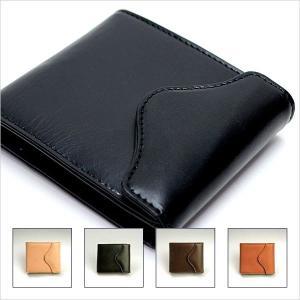日本製レザー財布 ブライドルレザー 牛革 メンズ 二つ折り 紳士用 財布 ブラック 黒 ブラウン 茶|smartbiz