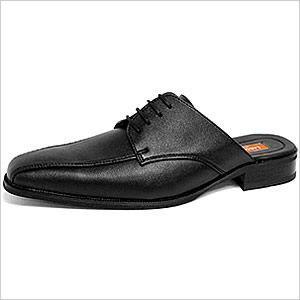 ビジネスサンダル スリッポン メンズ 靴 レザーシューズ 革靴 ビジネスシューズ 紳士用 レースアップ ブラック 黒|smartbiz