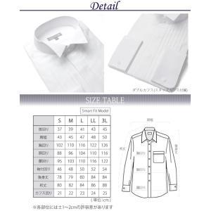 a97af1eb3305b ... ウイングカラーシャツ フォーマル メンズ 紳士用 ドレスシャツ ワイシャツ ダブルカフス ピンタック仕様 ウィングカラー