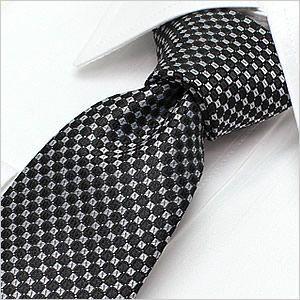 ネクタイ レギュラーネクタイ ナロータイ 選べる ブラック 黒 ホワイト 白 小紋柄|smartbiz