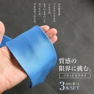 ネクタイ シルクのデメリットを克服 細番手糸マイクロポリエステル 無地 メンズ 紳士用 ブルー シルバー レッド グリーン イエロー smartbiz 02