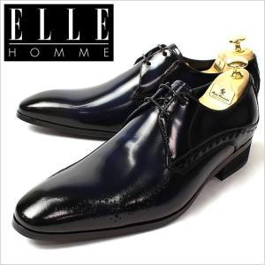 エルオム 革ビジネスシューズ ELLE HOMME 革靴 エル オム ドレスシューズ 紳士靴 メンズ 男性用 EH8022-NAV マドラス 革ビジネスシューズ 本革 日本製|smartbiz