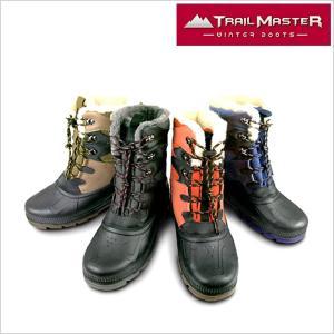 トレイル マスター ブーツ TRAIL MASTER ブーツ 靴 紳士 メンズ TR-003 アシックス商事 防水設計 トレッキング 長靴 ブーツ ブラック ブラウン 4E smartbiz