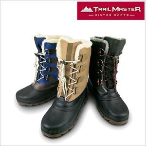 トレイル マスターブーツ TRAIL MASTER ブーツ 靴 メンズ TR-004 アシックス商事 防水設計 トレッキング 長靴 ブーツ ブラック ブラウン ネイビー 4E smartbiz