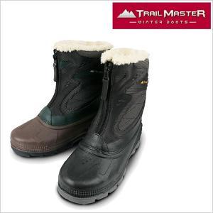 トレイル マスター ブーツ TRAIL MASTER ブーツ 靴 紳士 メンズ TR-005 アシックス商事 防水設計 トレッキング 長靴 ブーツ ブラック グリーン 4E EEEE smartbiz