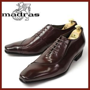 レースアップシューズ madras マドラス ビジネスシューズ 靴 メンズ 男性 紳士靴 レザー 本革 天然革 4cmヒール 革靴 牛革 3E ドレスシューズ ブラウン|smartbiz