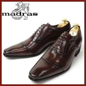 レースアップ madras マドラス ビジネスシューズ 靴 メンズ 男性 紳士靴 レザー 本革 革靴 牛革 3E フォーマル ドレスシューズ 内羽根 ストレートチップ|smartbiz
