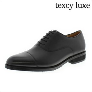 レースアップシューズ texcy luxe テクシー リュクス 革靴 紳士靴 メンズ ビジネスシューズ 日本製 本革 内羽根 ストレートチップ 黒 ブラック 3E 幅広 走れる|smartbiz