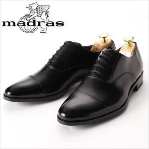 レースアップシューズ madras マドラス 靴 革靴 紳士靴 メンズ 本革 ビジネスシューズ ストレートチップ 黒 ブラック 内羽根 3E 日本製|smartbiz