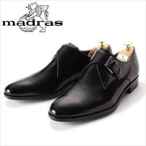 モンクストラップ madras マドラス 革靴 ビジネスシューズ 紳士靴 メンズ 本革 ビジネスシューズ ドレスシューズ 黒 ブラック メンズ 紳士 日本製|smartbiz