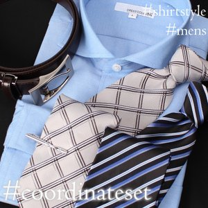 ワイシャツ コーディネートセット 5点セット 紳士用 メンズ ワイシャツ ネクタイ ネクタイピン タ...