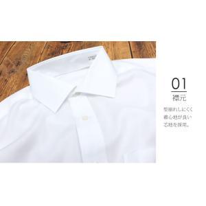 洗濯後返品OK 超 形態安定 綿100% ワイシャツ シワが消える 長袖 メンズ ノーアイロン 白 ボタンダウン 無地 形状記憶 ホワイト ピンク ブルー|smartbiz|12