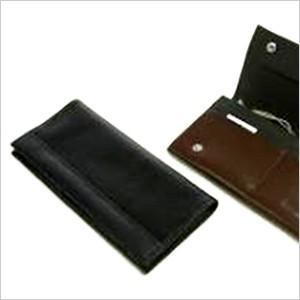 コンビ素材長財布 ウォレット 財布 メンズ 紳士用 NBT-101-BK ブラック ブラウン 黒|smartbiz