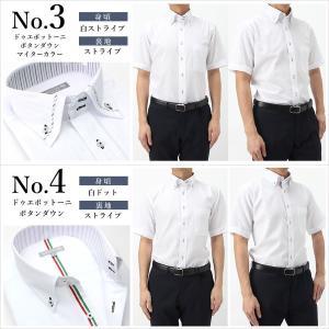 ワイシャツ メンズ 半袖 1枚から自由に選べる 5枚以上で送料無料 Yシャツ クールビズ 半袖シャツ セット ボタンダウン ホワイト ブルー 夏 涼しい おしゃれ|smartbiz|13