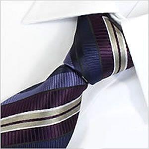 ネクタイ レギュラー メンズ 紳士用 洗える ウォッシャブル 洗濯可 デザイン パープル ネイビー 青 ブルー ゴールド レジメンタル ストライプ|smartbiz