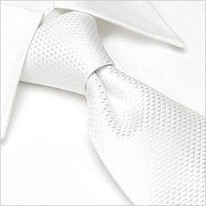 ネクタイ レギュラー幅 メンズ フォーマル 紳士用 ホワイト 白 結婚式 ゲスト|smartbiz