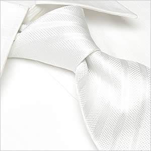 ネクタイ レギュラー幅 メンズ フォーマル 紳士用 ホワイト 白 ストライプ|smartbiz